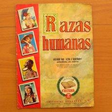 Coleccionismo Álbum: ÁLBUM RAZAS HUMANAS - EDITORIAL BRUGUERA 1955 - COMPLETO 128 CROMOS - VER FOTOS EN EL INTERIOR. Lote 76879911