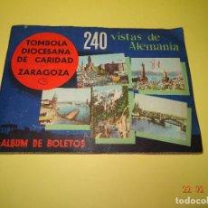 Coleccionismo Álbum: ANTIGUO ALBUM DE CROMOS COMPLETO *VISTAS DE ALEMANIA* DE LA TÓMBOLA DIOCESANA DE CARIDAD DE ZARAGOZA. Lote 77368769