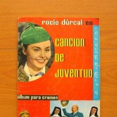 Coleccionismo Álbum: ÁLBUM CANCIÓN DE JUVENTUD - ROCIO DÚRCAL - EDITORIAL FHER 1962 - COMPLETO - VER FOTOS EN EL INTERIOR. Lote 77386905