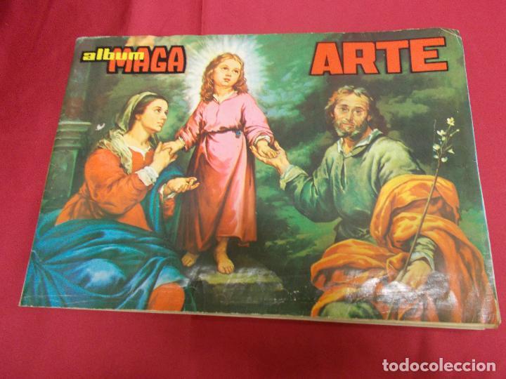 ALBUM DE CROMOS MAGA ARTE. COMPLETO. (Coleccionismo - Cromos y Álbumes - Álbumes Completos)