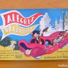 Coleccionismo Álbum: ÁLBUM ALEGRES VACACIONES - COMPLETO - RUIZ ROMERO 1949 - VER LAS FOTOS DEL INTERIOR . Lote 77872589