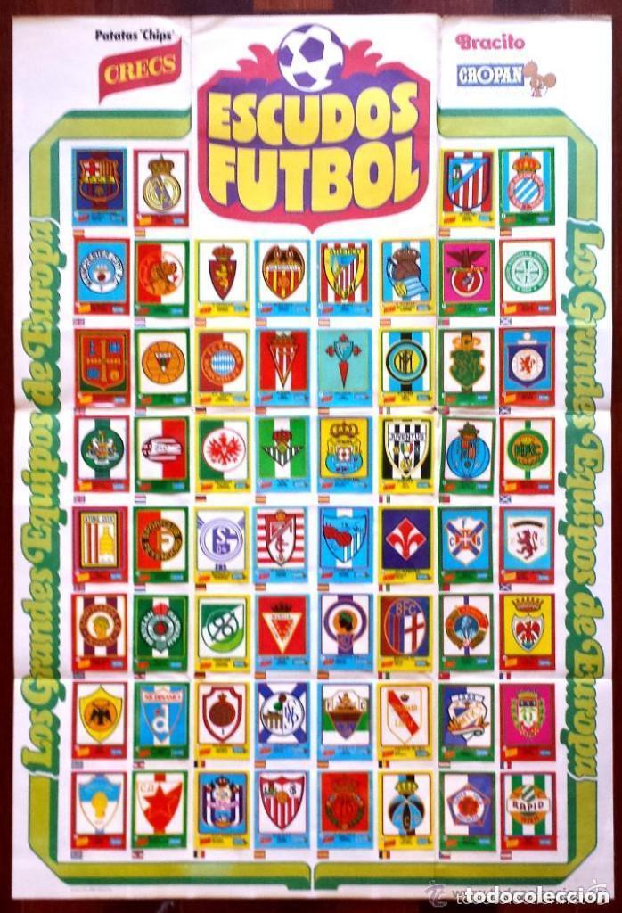 album poster cropan escudos futbol grandes equi  Comprar lbumes