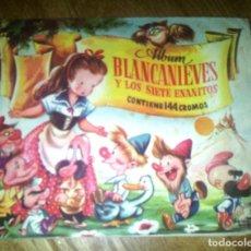 Coleccionismo Álbum: ALBUM COMPLETO DE BLANCANIEVES Y LOS SIETE ENANITOS DE EDITORIAL BRUGUERA. Lote 80075049