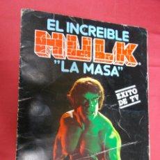 Coleccionismo Álbum: ALBUM DE CROMOS CASI COMPLETO. EL INCREIBLE HULK. LA MASA. EDITORIAL FHER. SOLO FALTAN 4 CROMOS. Lote 81188536