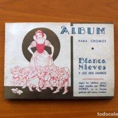 Coleccionismo Álbum: ÁLBUM BLANCANIEVES - BLANCA NIEVES Y LOS SIETE ENANOS - WALT DISNEY - EDITORIAL FHER 1941 - COMPLETO. Lote 81276360