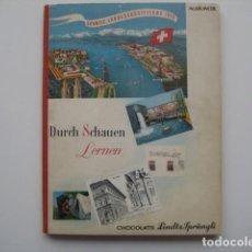 Coleccionismo Álbum: ÁLBUM CROMOS LINDT SPRUNGLI IX. SUIZA 1940.ENCICLOPÉDICO.312 CROMOS PRECIOSOS. COMPLETO. Lote 81448740