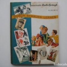 Coleccionismo Álbum: ÁLBUM CROMOS LINDT SPRUNGLI X. SUIZA 1940.ENCICLOPÉDICO.312 CROMOS PRECIOSOS. COMPLETO. Lote 81453132