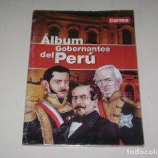 Coleccionismo Álbum: ALBUM GOBERNANTES DEL PERÚ - DIARIO CORREO 2002 - 100% COMPLETO. Lote 82250696