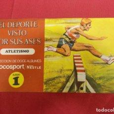 Coleccionismo Álbum: ALBUM COMPLETO. EL DEPORTE VISTO POR SUS ASES. Nº 1. ATLETISMO. CHOCOSPORT/ NESTLE.. Lote 82665780