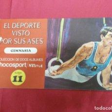 Coleccionismo Álbum: ALBUM COMPLETO. EL DEPORTE VISTO POR SUS ASES. Nº 11. GIMNASIA. CHOCOSPORT/ NESTLE.. Lote 82669496