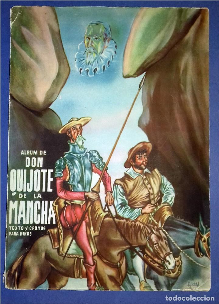 EDICIONES ESPAÑA - DON QUIJOTE DE LA MANCHA- COMPLETO Y MUY DIFÍCIL (1947) IV CENTENARIO NACIMIENTO (Coleccionismo - Cromos y Álbumes - Álbumes Completos)