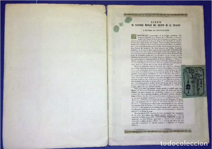 Coleccionismo Álbum: EDICIONES ESPAÑA - DON QUIJOTE DE LA MANCHA- COMPLETO Y MUY DIFÍCIL (1947) IV Centenario Nacimiento - Foto 2 - 82945112