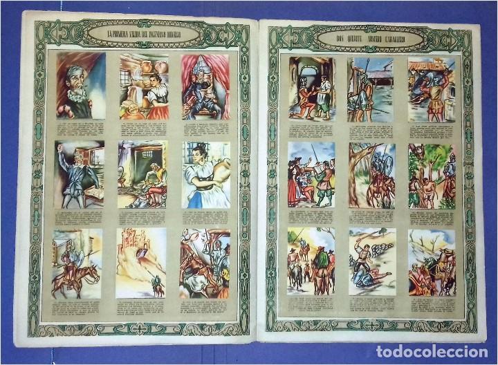 Coleccionismo Álbum: EDICIONES ESPAÑA - DON QUIJOTE DE LA MANCHA- COMPLETO Y MUY DIFÍCIL (1947) IV Centenario Nacimiento - Foto 4 - 82945112