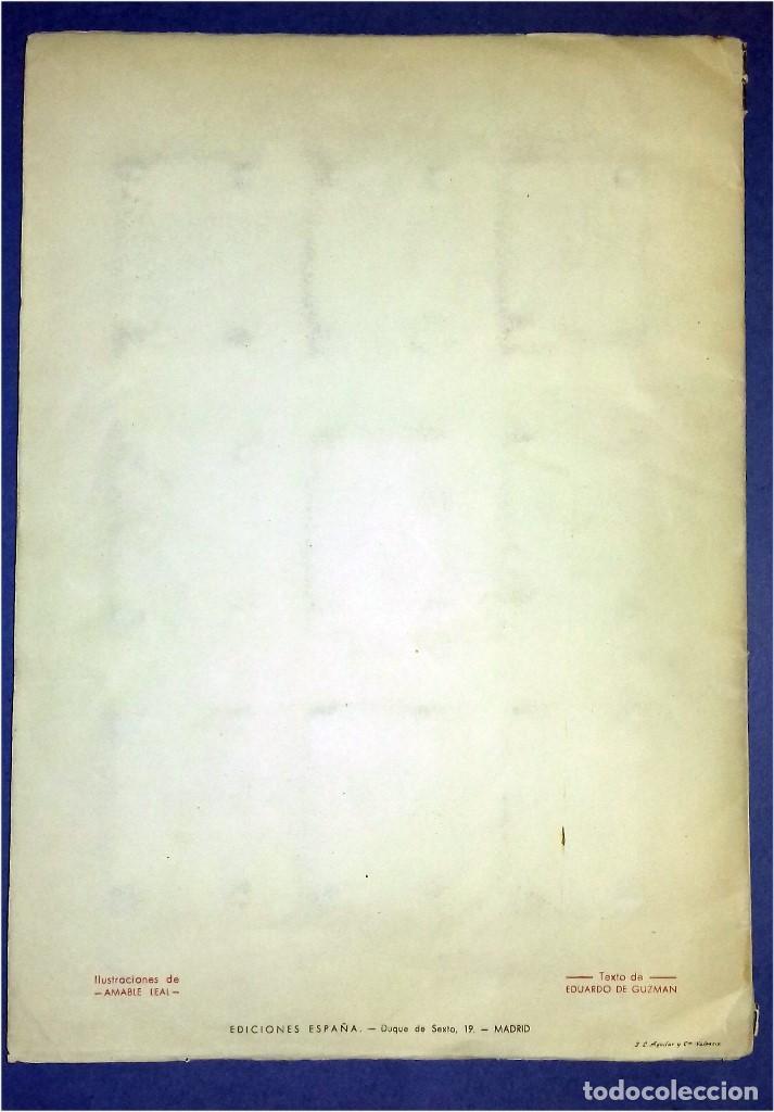 Coleccionismo Álbum: EDICIONES ESPAÑA - DON QUIJOTE DE LA MANCHA- COMPLETO Y MUY DIFÍCIL (1947) IV Centenario Nacimiento - Foto 8 - 82945112