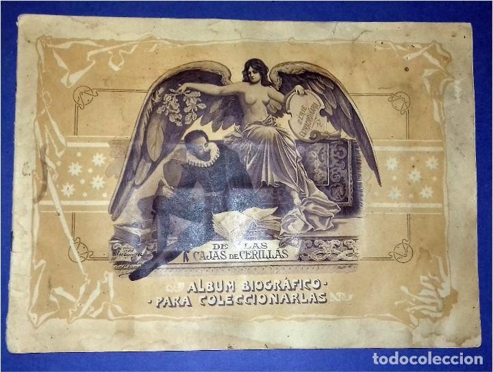 COMPAÑÍA ARRENDATARIA DE CERILLAS Y FÓSFOROS EN EL AÑO 1905 - III CENTENARIO DEL QUIJOTE - ÁLBUM (Coleccionismo - Cromos y Álbumes - Álbumes Completos)