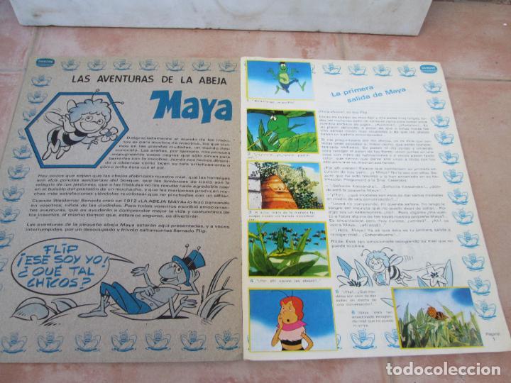 Coleccionismo Álbum: Álbum Las Aventuras de la Abeja Maya de Danone Completo - Foto 3 - 83045756