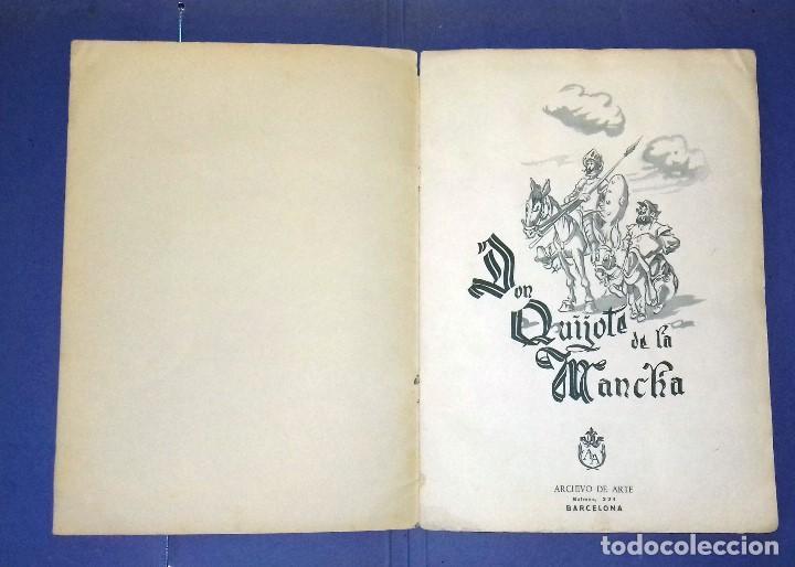 Coleccionismo Álbum: ÁLBUM DON QUIJOTE DE LA MANCHA - PRIMERA ED - 1950 - ARCHIVO DEL ARTE·ILUSTRADO POR IÑIGO. IMPECABLE - Foto 2 - 83117708