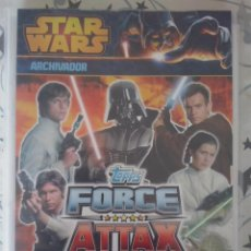Coleccionismo Álbum: TOPPS -ALBUM STAR WARS FORCE ATTAX 2013 TRASERA ROJA.PACK COMPLETO 192 CARDS BASICAS. Lote 174427099