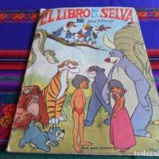 Coleccionismo Álbum: EL LIBRO DE LA SELVA COMPLETO 157 CROMOS. FHER 1968. WALT DISNEY. BUEN ESTADO.. Lote 83914616