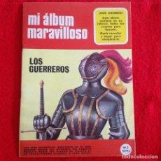 Coleccionismo Álbum: ALBUM COMPLETO DE MI ALBUM MARAVILLOSO, LOS GUERREROS, 32 CROMOS, NUEVO. POR RECORTAR Y PEGAR. Lote 84064284