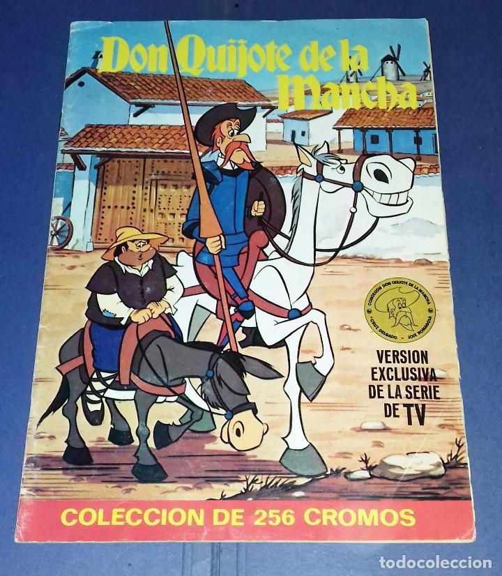 ALBUM DE CROMOS COMPLETO - DON QUIJOTE DE LA MANCHA - BRUGUERA - MUY BUEN ESTADO Y MUY DIFICIL (Coleccionismo - Cromos y Álbumes - Álbumes Completos)