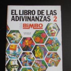 Coleccionismo Álbum: ALBUM DE CROMOS EL LIBRO DE LAS ADIVINANZAS 2 BIMBO VACIO, PLANCHA. Lote 84581468