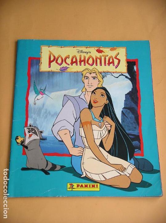 ÁLBUM DE CROMOS POCAHONTAS DISNEY, ED. PANINI, COMPLETO 232 CROMOS, POSTER VACÍO AÑO 1995? (A) ERCOM (Coleccionismo - Cromos y Álbumes - Álbumes Completos)