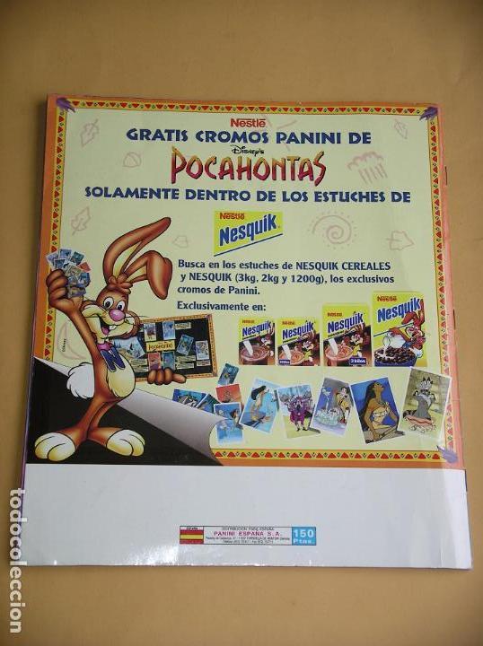 Coleccionismo Álbum: Álbum de cromos Pocahontas Disney, ed. Panini, completo 232 cromos, poster vacío año 1995? (A) ercom - Foto 2 - 85327400
