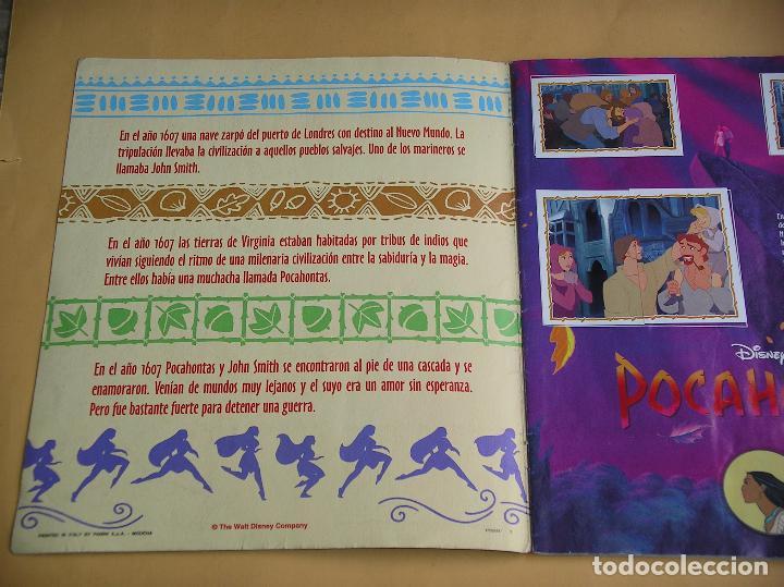 Coleccionismo Álbum: Álbum de cromos Pocahontas Disney, ed. Panini, completo 232 cromos, poster vacío año 1995? (A) ercom - Foto 3 - 85327400