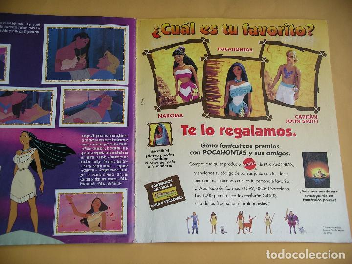 Coleccionismo Álbum: Álbum de cromos Pocahontas Disney, ed. Panini, completo 232 cromos, poster vacío año 1995? (A) ercom - Foto 4 - 85327400