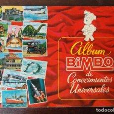 Coleccionismo Álbum: ALBUM CROMOS BIMBO DE CONOCIMIENTOS UNIVERSALES. COMPLETO. MUY BUEN ESTADO. Lote 85491192