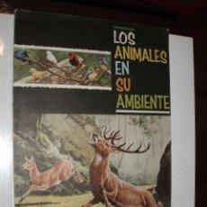 Coleccionismo Álbum: ALBUM COMPLETO LOS ANIMALES EN SU AMBIENTE,FHER MUY BUEN ESTADO. Lote 85861752