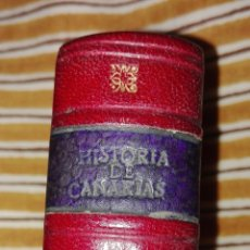 Coleccionismo Álbum: CROMOS ENCUADERNADOS EN CUERO EPISODIOS HISTORICOS DE LAS ISLAS CANARIAS,CIGARRILLOS LA MASCOTA.. Lote 86070000