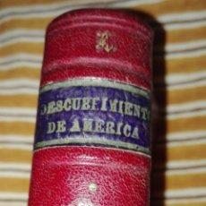 Coleccionismo Álbum: ANTIGUOS CROMOS ENCUADERNADOS EN CUERO EL DESCUBRIMIENTO DE AMERICA TOMO I LA MASCOTA. Lote 86070908