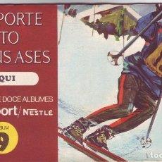 Coleccionismo Álbum: NESTLE - EL DEPORTE VISTO POR SUS ASES 9 ESQUI - ÁLBUM COMPLETO. Lote 86331320