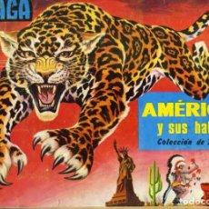 Coleccionismo Álbum: ALBUM AMERICA Y SUS HABITANTES DE MAGA 1968. COMPLETO. MUY BUEN ESTADO. Lote 86336144