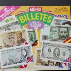 Coleccionismo Álbum: ÁLBUM MUNDI BILLETES CON 80 CROMOS ESTÁ PLANCHA. Lote 86627071