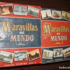 Coleccionismo Álbum: ALBUM MARAVILLAS DEL MUNDO ALBUM 1 Y 2 BRUGUERA. Lote 56253427