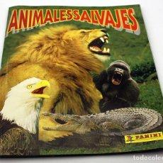 Coleccionismo Álbum: ANIMALES SALVAJES - ALBUM CROMOS COMPLETO - PANINI - CON POSTER. Lote 86961112