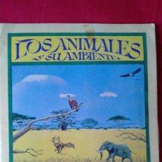 Coleccionismo Álbum: ÁLBUM LOS ANIMALES Y SU AMBIENTE, ED. BRUGUERA 1980, COMPLETO 144 CROMOS + 8 LÁMINAS- MUY RARO. Lote 87360264