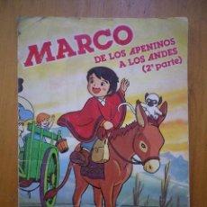 Coleccionismo Álbum: MARCO DE LOS APENINOS A LOS ANDES 2 PARTE DANONE. Lote 87446184