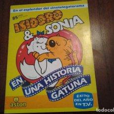 Coleccionismo Álbum: ISIDORO & SONIA - EN UNA HISTORIA GATUNA - EDITORIAL ASTON - ALBUM DE CROMOS COMPLETO - . Lote 87737404