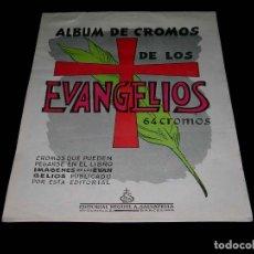 Coleccionismo Álbum: ALBUM DE CROMOS DE LOS EVANGELIOS, COMPLETO CON 64 CROMOS, ED. MIGUEL A. SALVATELLA, BARCELONA, 1964. Lote 88005472