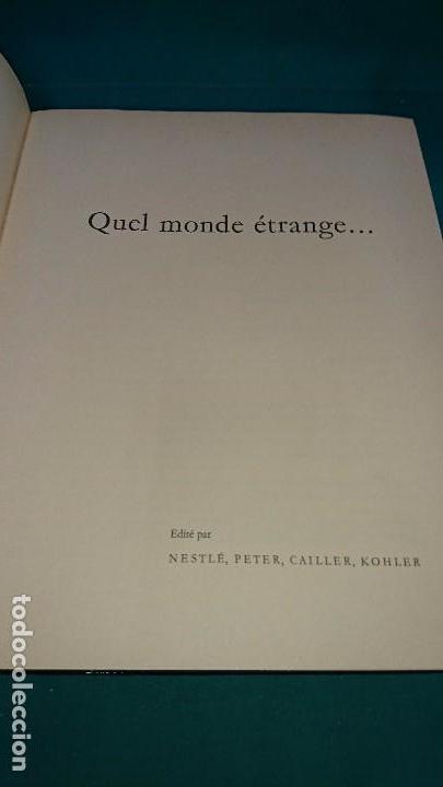 Coleccionismo Álbum: ÁLBUM NESTLÉ, QUEL MONDE ETRANGE, FRANCES - Foto 2 - 89100040
