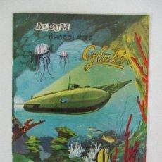 Coleccionismo Álbum: ÁLBUM DE CROMOS - 20000 LEGUAS DE VIAJE SUBMARINO - CHOCOLATES GLUKI, OLOT - COMPLETO - AÑO 1965. Lote 90075128
