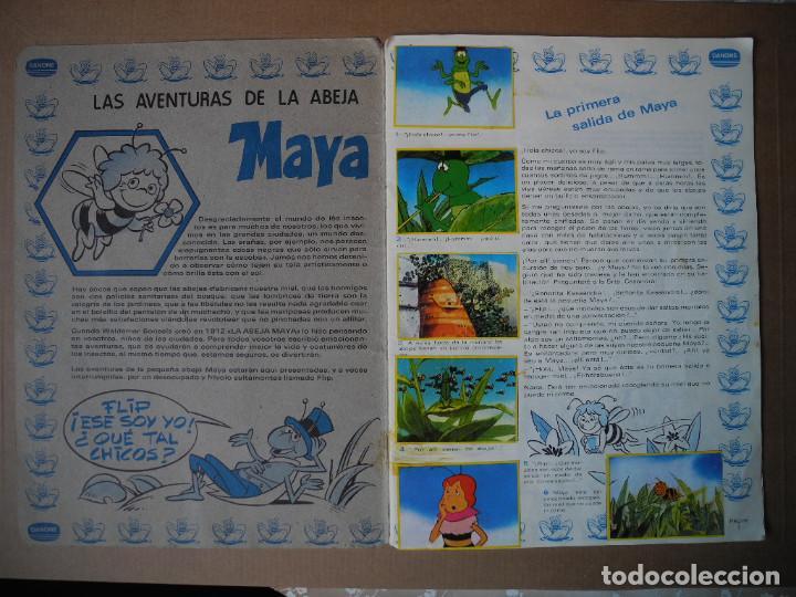 Coleccionismo Álbum: Las aventuras de la abeja Maya. Álbum completo. Danone. - Foto 2 - 90105124