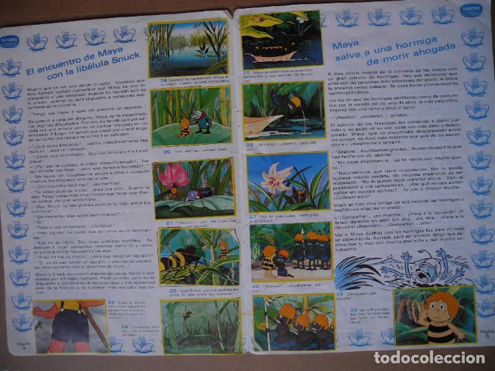 Coleccionismo Álbum: Las aventuras de la abeja Maya. Álbum completo. Danone. - Foto 4 - 90105124