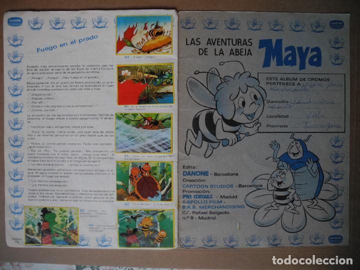 Coleccionismo Álbum: Las aventuras de la abeja Maya. Álbum completo. Danone. - Foto 10 - 90105124