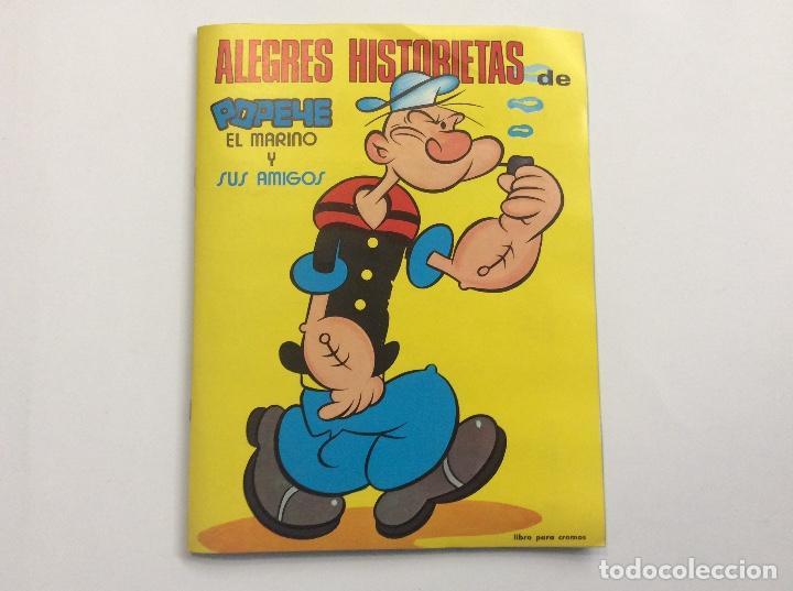 ÁLBUM CROMOS ALEGRES HISTORIETAS DE POPEYE COMPLETO + 1 SOBRE VACÍO + 7 PEGATINAS (Coleccionismo - Cromos y Álbumes - Álbumes Completos)