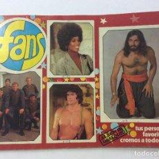 Coleccionismo Álbum: ÁLBUM CROMOS FANS COMPLETO + SOBRE VACÍO + SUPLEMENTO CON MÁS FOTOS. Lote 91073895
